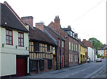 SO8483 : High Street in Kinver, Staffordshire by Roger  Kidd
