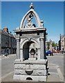 NJ5239 : Memorial fountain, the Square, Huntly by Bill Harrison