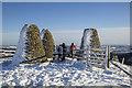 NT4331 : The Three Brethren Cairns in winter : Week 52
