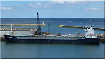 NZ4349 : Beaumonde cargo vessel at South Dock, Seaham Harbour by Mat Fascione