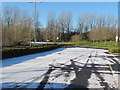 SK0207 : Norton Canes services overflow car park with snow by David Hawgood