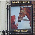 SK4234 : The sign of the Nags Head by David Lally