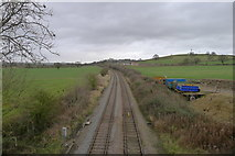SK8939 : Grantham to Skegness line, north of Grantham by Tim Heaton