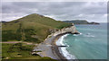 SY8580 : Beach at Arish Mell, Lulworth Ranges, Dorset by Phil Champion