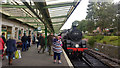 SZ0278 : A train arrives at Swanage Station by Phil Champion
