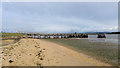 SY9890 : Hamworthy Beach and Lake Pier, Poole Harbour by Phil Champion