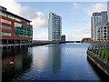 SJ3390 : Princes Dock and Alexandra Tower, Liverpool by David Dixon