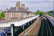 TQ0471 : Staines station, eastward 2005 by Ben Brooksbank