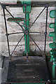SY9682 : Weighing machine on the platform at Corfe Castle Station, Swanage Railway by Phil Champion