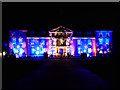 SJ7387 : Dunham Massey Hall, Illuminated for Christmas by David Dixon