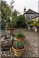 SW7223 : Stable yard, Trelowarren by Ian Capper