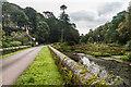 SW7024 : Pond Bridge and Lodge, Trelowarren by Ian Capper