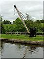 SJ9752 : Vintage crane on Cheddleton Wharf in Staffordshire by Roger  Kidd