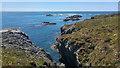 SH2179 : Geo near Ynysoedd y Ffrydiau, Holy Island, Anglesey by Phil Champion