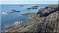 SH2179 : Rocky coastline near Ynysoedd y Ffrydiau, Holy Island, Anglesey by Phil Champion