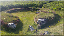 SH2181 : Hut at Ty Mawr Hut Circles, Holyhead Mountain, Holy Island, Anglesey by Phil Champion