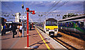 TQ3884 : Stratford (Regional) station, Up Main platforms, 1998 by Ben Brooksbank