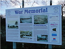 TF6103 : Information board at the War Memorial Playing Field by Adrian S Pye