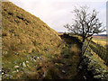 SK0099 : Footpath around Lees Hill by Stephen Burton