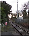 SN1205 : Railway south from Saundersfoot station by Jaggery