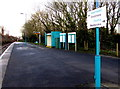 SN1206 : Turquoise colours on Saundersfoot railway station by Jaggery