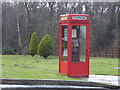 SY8990 : Coldharbour: a K8 phone box at Birchwood Tourist Park by Chris Downer