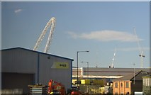 TQ1985 : The arch of Wembley Stadium by N Chadwick