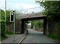 SJ8950 : Railway bridge near Milton in Stoke-on-Trent by Roger  Kidd