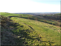 ST0084 : View south along Mynydd Meiros by Gareth James
