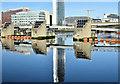 J3474 : The Obel (reflection), Belfast (January 2018) by Albert Bridge