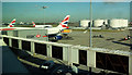 TQ0575 : Jet bridge, Heathrow airport by Derek Harper