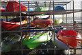 SX3553 : Kayaks at Portwrinkle by Stephen McKay