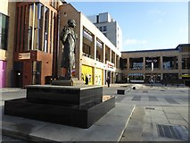 SO8554 : Elgar statue and Cathedral Square by Philip Halling