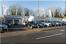 SU4828 : Wilmoths car dealership, Bar End Road by Peter Facey
