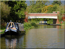 SK0419 : Canal and new bridge north of Rugeley in Staffordshire by Roger  Kidd