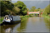 SK0419 : Canal north of Rugeley in Staffordshire by Roger  Kidd