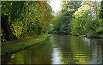 SK0220 : Canal south-east of Little Haywood in Staffordshire by Roger  Kidd