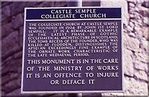 NS3760 : Sign, Castle Semple Collegiate Church by Richard Sutcliffe