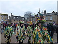 TL2797 : Colourful characters on the Market Place - Whittlesea Straw Bear Festival 2018 by Richard Humphrey
