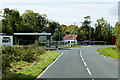 G9757 : Derelict Service Station on the A46 opposite Toura Church by David Dixon