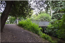 TQ2667 : Footbridge, River Wandle by N Chadwick