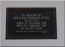 SE1039 : All Saints, Bingley - Ferrand memorial (3) by Stephen Craven