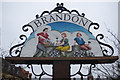 TL7886 : Brandon town sign by Stephen McKay