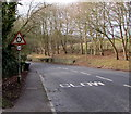 SP2512 : Warning sign - roundabout near Burford by Jaggery