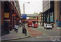 TQ3179 : North up Waterloo Road between Waterloo Station and Waterloo East, 2002 by Ben Brooksbank