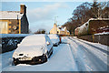 NT4936 : Winter conditions on the High Road, Galashiels by Walter Baxter