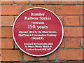 SJ9490 : Romiley railway station - plaque by Stephen Craven