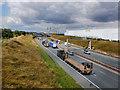 SE4822 : The A1(M) viewed from footbridge by derek dye