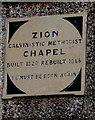 SN1107 : Zion Chapel tablet, Begelly by Jaggery