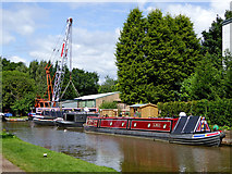 SJ8934 : Moorings and boatyard in Stone, Staffordshire by Roger  Kidd